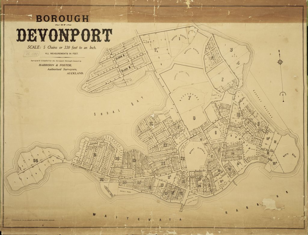 Devonport Borough Map 1899