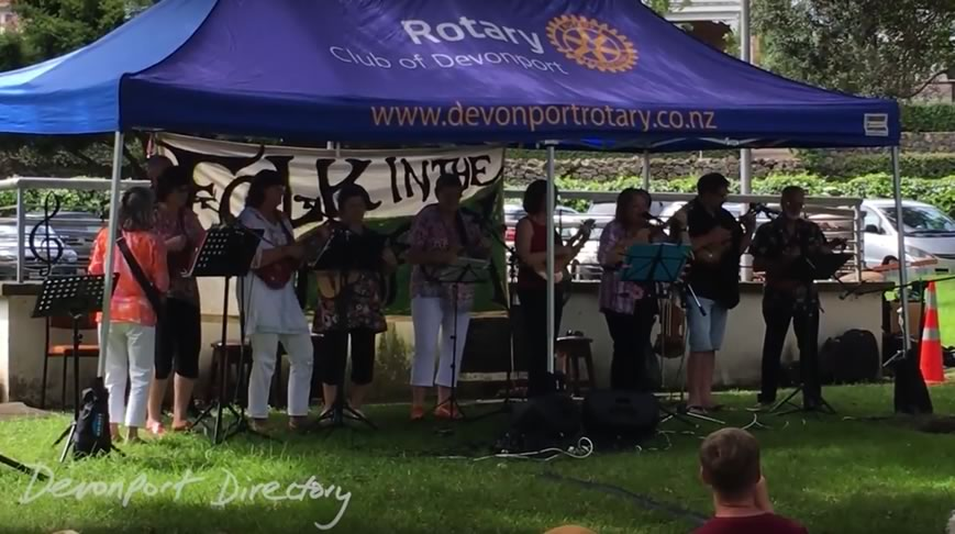 folk in the park Devonport Auckland